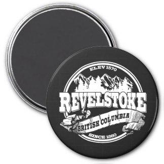 Revelstoke Old Circle Black Fridge Magnet