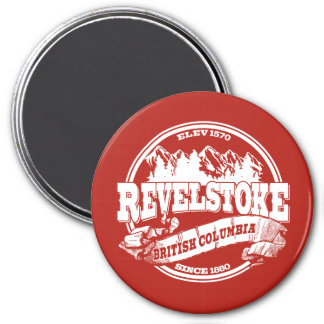 Revelstoke Old Circle Red Magnet