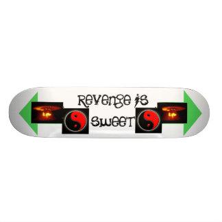 revenge is sweet skateboard deck