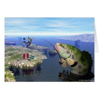 Revenge of the Mutant Bass Greeting Card