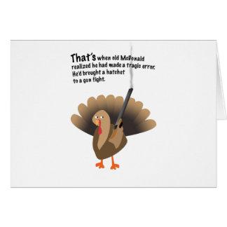 Revenge of the turkey card