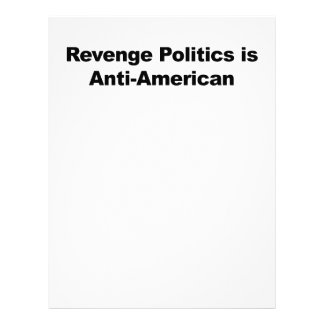 Revenge Politics is Anti-American Letterhead