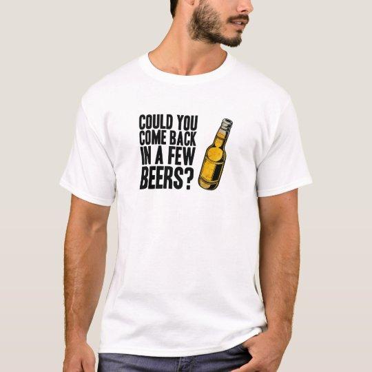 Revenu en quelques bières t-shirt
