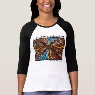Rêver indigène d'oeufs de tortue d'art t-shirt