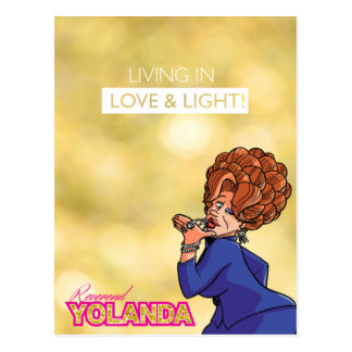 Reverend Yolanda - Living in Love & Light Postcard
