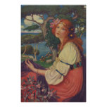 Reverie, 1908, Colourful Gypsy Girl Poster