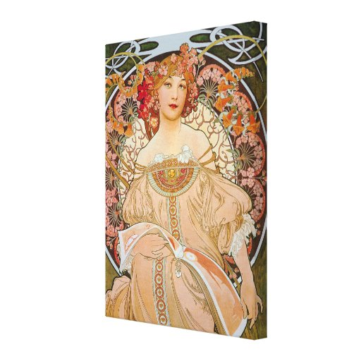 Reverie by Alphonse Mucha Gallery Wrapped Canvas