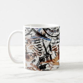 Reverse Abstract V-Twin Coffee Mug