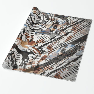 Reverse Abstract V-Twin Gift Wrapping Paper