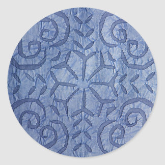 Reverse Applique #1 Blue Classic Round Sticker
