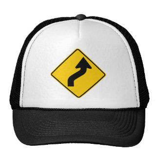 Reverse Curve (Right) Highway Sign Trucker Hat