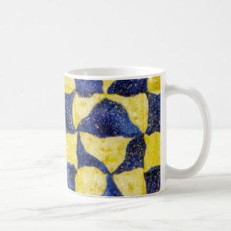 Reverse Jigsaw Star Quilt Block Coffee Mug
