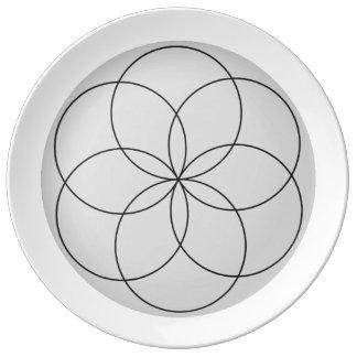 Reverse Lathe Flower Plate
