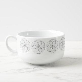Reverse Lathe Flower Soup Mug
