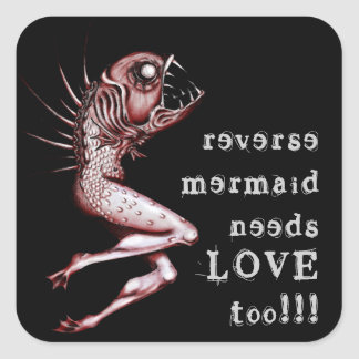 Reverse mermaid needs love awareness sticker