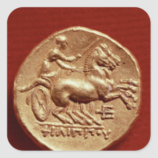 Reverse of a stater of Philip II  of Macedonia Square Sticker