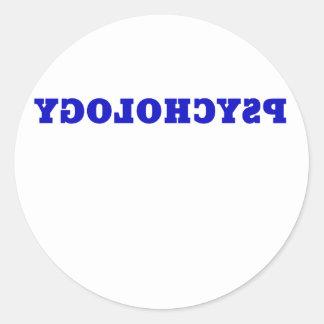 Reverse Psychology Classic Round Sticker