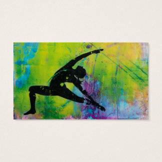 Reverse Warrior Yoga Girl Business Cards