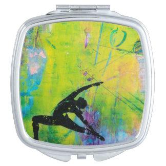Reverse Warrior Yoga Girl - Compact Mirror