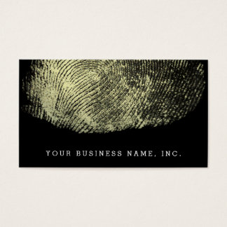 Reversed Loop Fingerprint Business Card