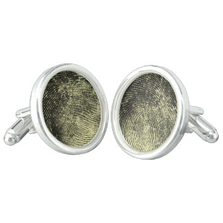 Reversed Loop Fingerprint Cufflinks