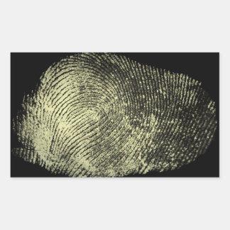 Reversed Loop Fingerprint Sticker