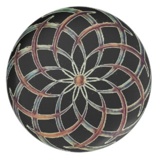 Reversed Swirls Black Plate