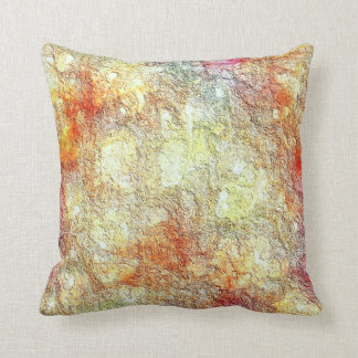 Reversible Abstract Sunny Warm Earth Throw Pillow