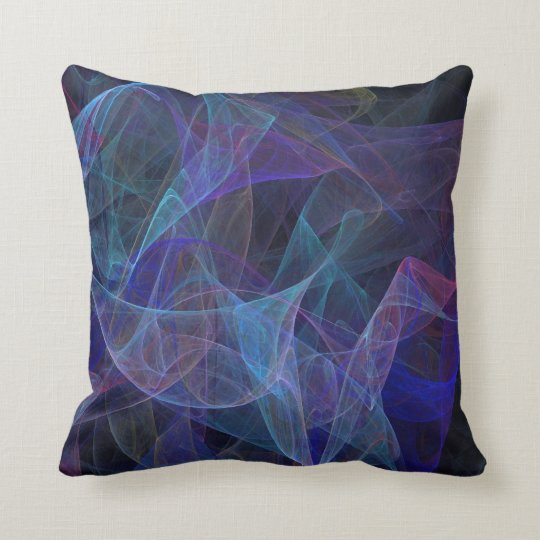 Reversible Abstract Textured Multi-Coloured Pillow