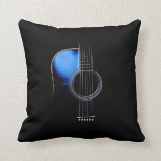 Reversible Acoustic Guitar Throw Pillow
