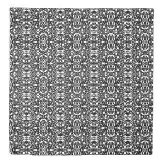 Reversible Black White Geometric Duvet Cover