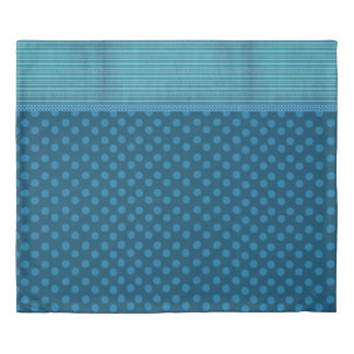 Reversible Blues Duvet Cover