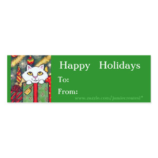 Christmas tags business cards and business card templates for Dog tag business cards