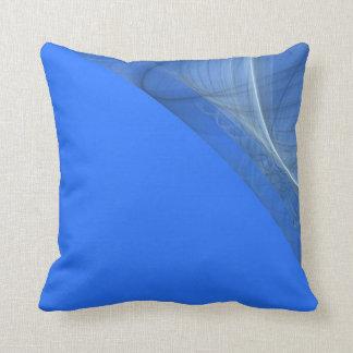 Reversible Colorful Blue Fractal Pillow