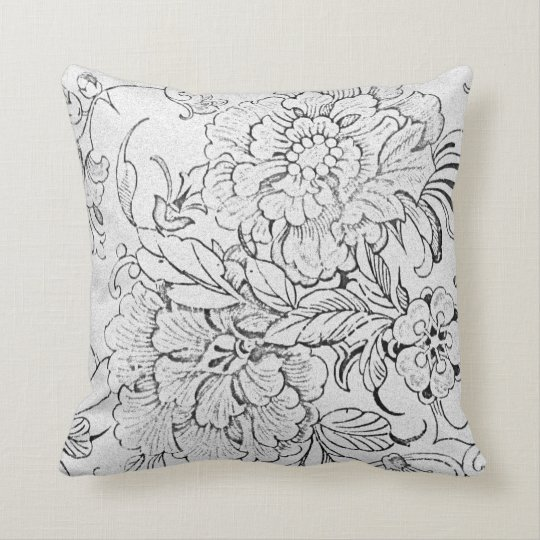 Reversible Floral Throw Pillow