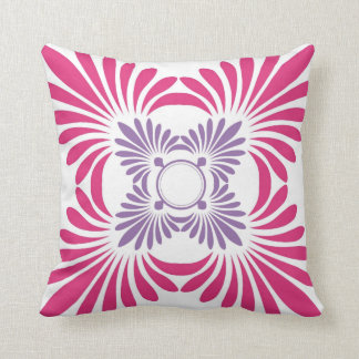 Reversible Floral Throw Pillows:Purple Pink