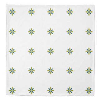 Reversible Geometric Floral Duvet Cover