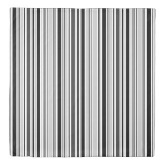 Reversible Gray/Black/White and Red/White Stripes Duvet Cover