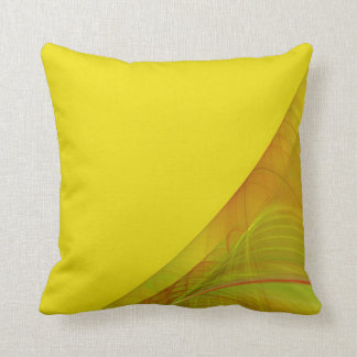 Reversible Green and Yellow Fractal Pillow