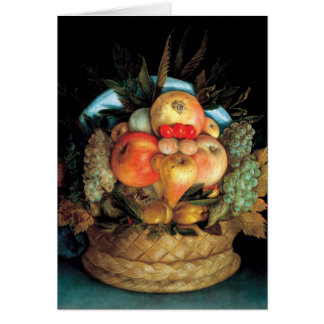 Reversible Head With Basket of Fruit 1590 - Arcimb Card