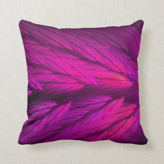 Reversible Hot Pink Feathery Fractal Pillow