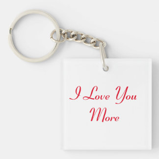 Reversible I Love You More Keychain