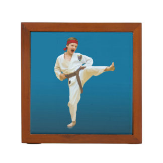 Reversible Karate and Ballet Images Desk Organizer