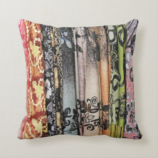 Reversible Multi-coloured scarves in Israel Pillow