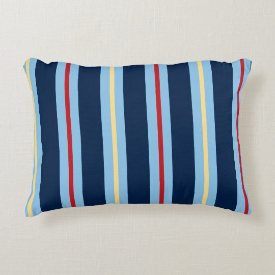 Reversible Nautical Striped Accent Pillow