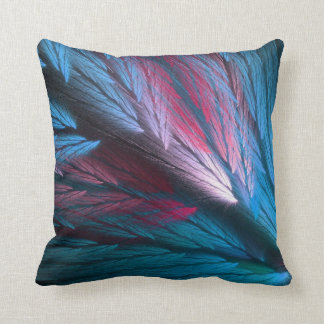Reversible Pink n Blue Feathery Fractal Pillow