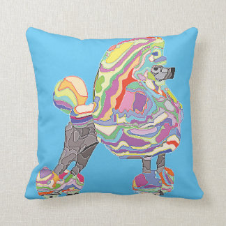 Reversible Pink poodle pillow