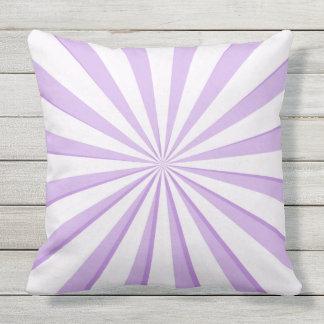 Reversible Purple Starburst and Polka Dot Throw Pillow