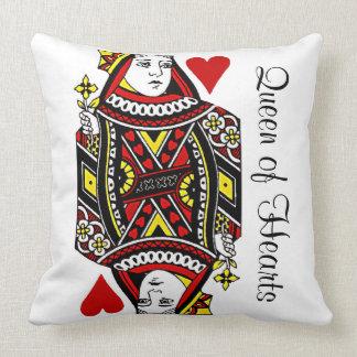 Reversible Queen of Hearts Design Throw Pillow