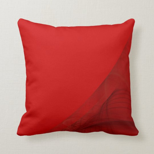 Reversible Red, and Blue Fractal Pillow